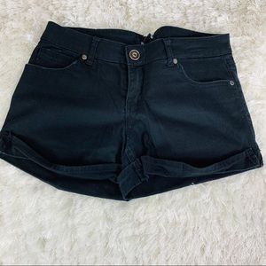 Forever 21 Black Denim Jean Shorts Sz 27